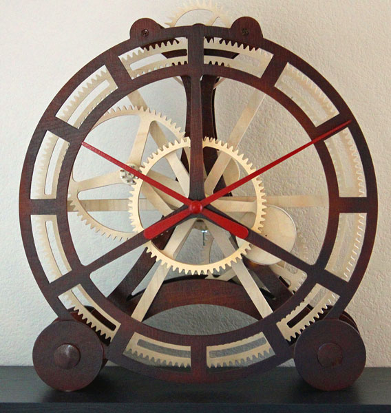 Build your own wooden mechanical timekeeping masterpiece
