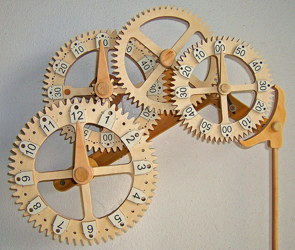 Storage Box Free Simple Wooden Gear Clock Plans